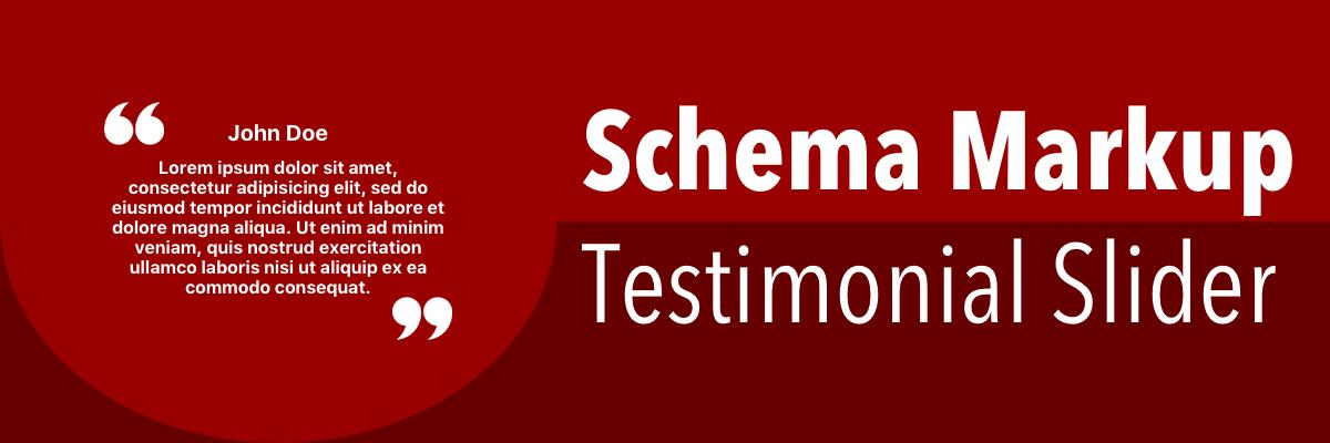 Schema Markup Testimonial Slider CDN Support